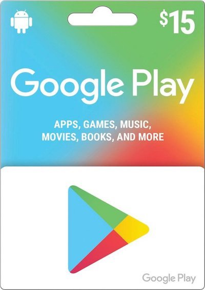 Google Play Card For US Stores 15$ Card